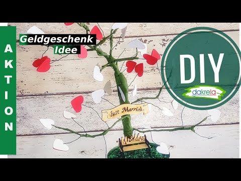 Bastelaktion: Geldgeschenk / Hochzeitsbaum zur Hochzeit für Ameisenbehr [ Anleitung   deutsch]