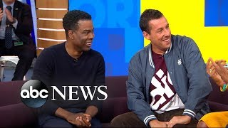 Adam Sandler and Chris Rock reveal what they would do at their kids' weddings