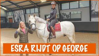 Voor de eerste keer op George rijden!   PaardenpraatTV