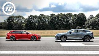 TRACK BATTLE: Audi RS6 Avant vs Lamborghini Urus | Top Gear: Series 29