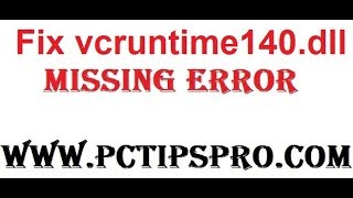 vcruntime140 is missing