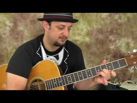 Acoustic Blues Guitar Lesson - acoustic guitar techniques -