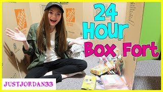 24 Hour Overnight In Huge Box Fort  JustJordan33
