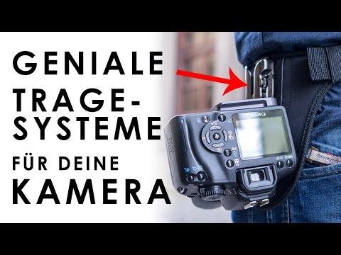 Geniale TRAGESYSTEME für deine Kamera - Kameragurte, Kameraclip und Holster