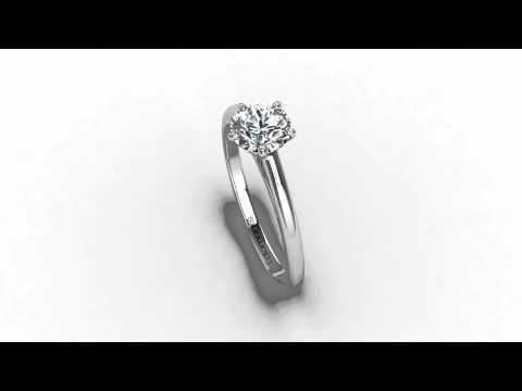 solitaire diamant 4 griffes