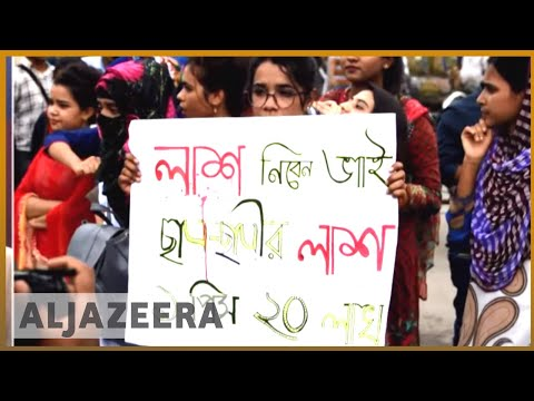 Al Jazeera Video on Bangladesh Student Protests. The elderly photographer giving interview here has been abducted one hour ago. (10:30 PM local time)