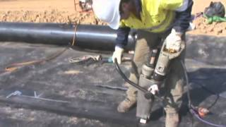 GDT Lining   HDPE Geomembrane Liner Install Process