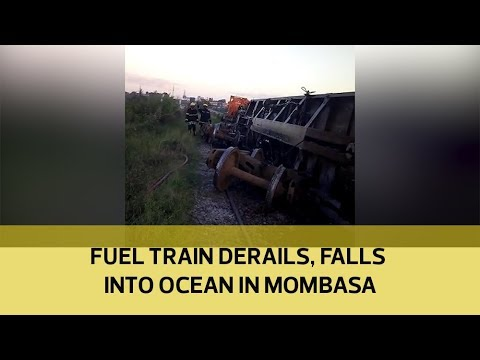 Mombasa train accident: Train plunges into the Indian Ocean in Mombasa[Video]
