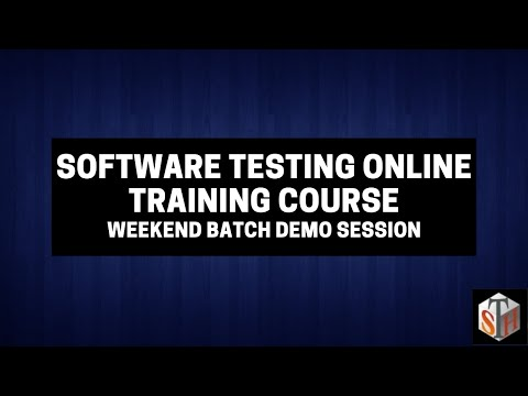 Demo - Software Testing Online Training Course - Weekend Batch ...