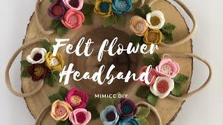DIY:: Easy Felt Flower Headband