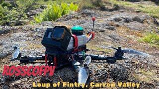 Long Range FPV Drone Flight - Loup of Fintry - Scotland - Rossco FPV