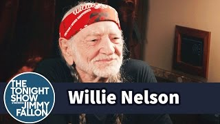 Jimmy Visits Willie Nelson's Tour Bus