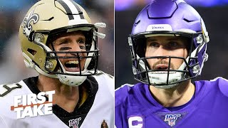 Drew Brees or Kirk Cousins: Which QB needs a playoff win more? | First Take