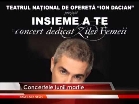 Concertele lunii martie