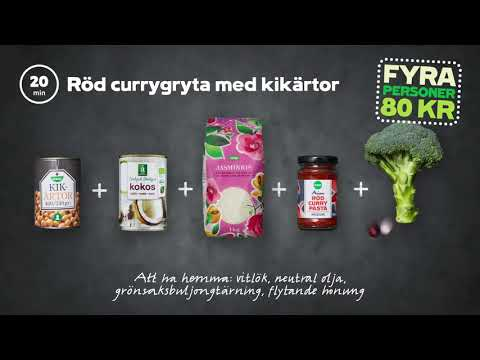 Röd currygryta med kikärtor | 4 personer 80 kr