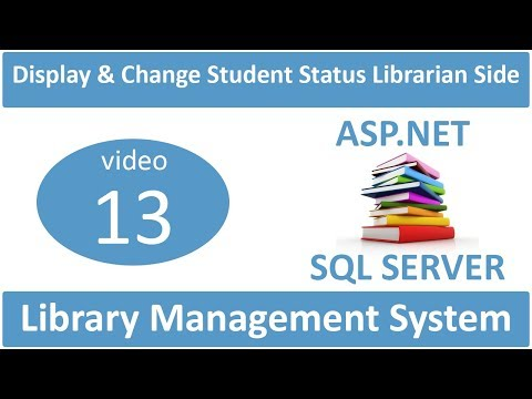 how to display and change status of student registration librarian side
