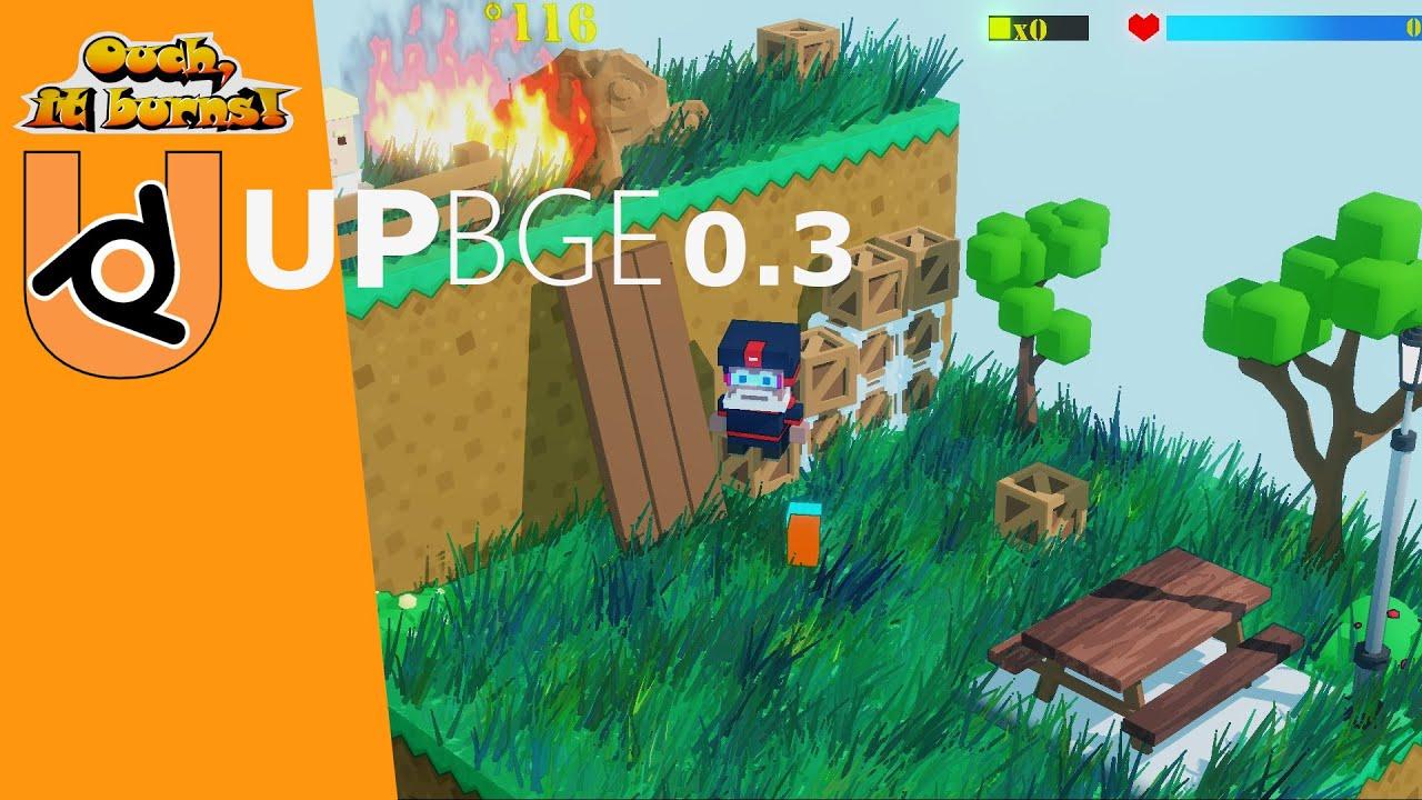 UPBGE 0.3 Ouch, it burns! Demo N#3 Blender 2.91(EEVEE).