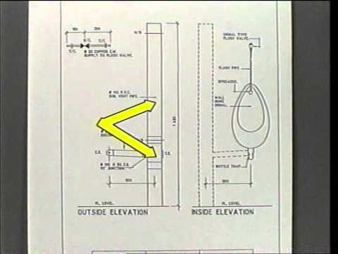 Old Video: How to install a wall hung urinal