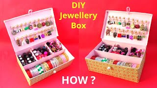 How To Make Bangle Box With Waste Shoebox   Best Out Of Waste   Diy Jewellery Organizer