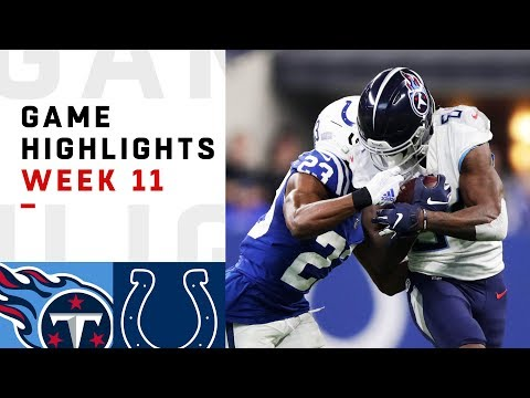 Titans vs. Colts Week 11 Highlights | NFL 2018
