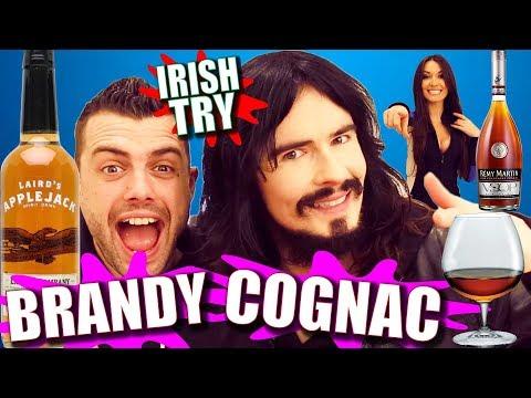 Irish People Taste Test American 'BRANDY & COGNAC' + Brandy Warmer!!