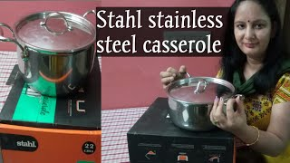 Stahl stainless steel cookware Review (casserole/pot)and unboxing|Stainless Steel Cookware