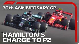 Lewis Hamilton's Charge to P2 | 70th Anniversary Grand Prix