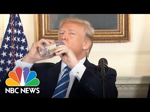President Donald Trump Vs. Marco Rubio: Awkward Water Bottle Moments | NBC News