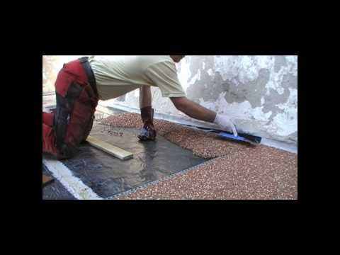Steinteppich, Steinchenboden, Kieselbeschichtung Verlegeanleitung TrendFloor