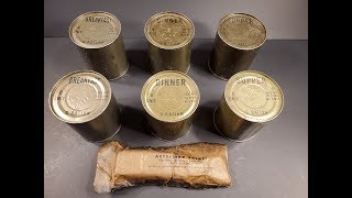 1945 C Ration Review Preserved Vintage 24 Hour MRE Testing Marathon