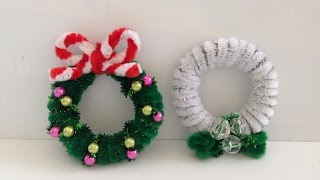 How to make a Pipe Cleaner Christmas Wreath 2 | Kholo.pk