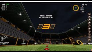 Treinamento no simulador de drones - Velocidrone FPV Racer Simulator - Track Split S Rev. - 16.086s