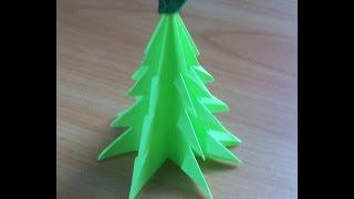 Смотреть онлайн Миниатюрная новогодняя елочка их бумаги