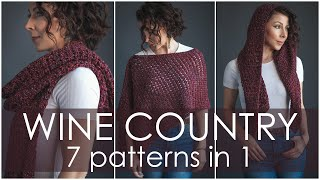 7 Knitting Patterns In 1! How To Style The Wine Country Wrap