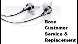 Bose customer service replacement process