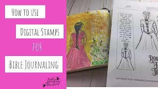 How To Use Digital Stamps In Bible Journaling