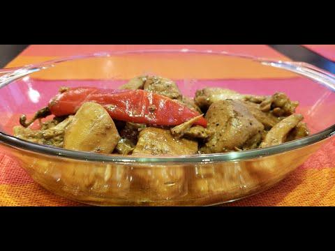 Ginataang Manok / Spicy  Chicken in Coconut milk