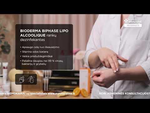BIODERMA rankų dezinfekantas BIPHASE LIPO ALCOOLIQUE, 100 ml