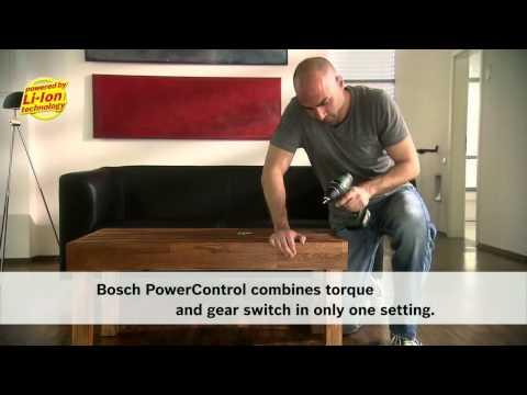 Benefits of: The Bosch Cordless Drill/Driver PSR 14.4 LI-2 and PSR 18 LI-2