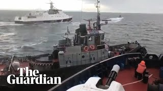Russia seizes Ukrainian naval ships in major escalation of tensions