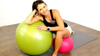 20 MINUTE WORKOUT - UGI & STABILITY BALL CIRCUIT by shortcircuits with Marsha