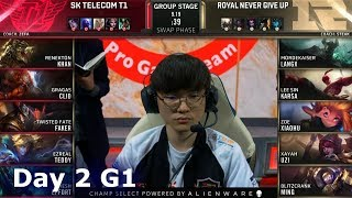 SKT vs RNG | Day 2 S9 LoL Worlds 2019 Group Stage | SK Telecom T1 vs Royal Never Give Up