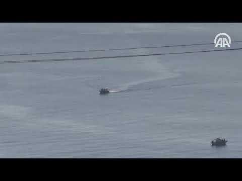 Σκηνικό πολέμου στα Ίμια: Ελληνικά και τουρκικά σκάφη γύρω από τις βραχονησίδες (βίντεο)