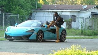 MCLAREN BAIT CAR IN THE HOOD!!! ELECTRIC SEAT PRANK!!