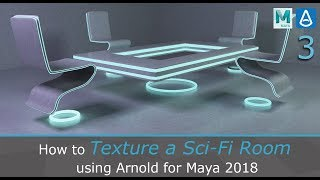 Texture a Sci-Fi Room using Arnold for Maya