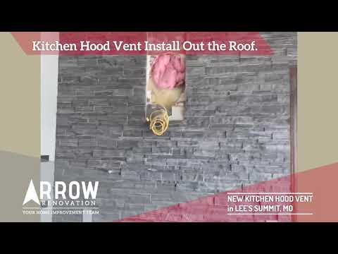 Kitchen Hood Vent Install out to the Roof in Lee's Summit, MO