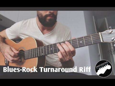 Blues Rock Guitar Lesson    Turnaround Riff in E Major