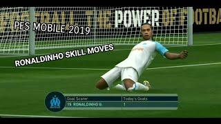 ronaldinho gaucho pes 2019 mobile skills - TH-Clip