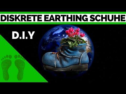 Diskrete Earthing Schuhe (alt/old) - Erdungsschuhe selber machen+Test Earthing deutsch