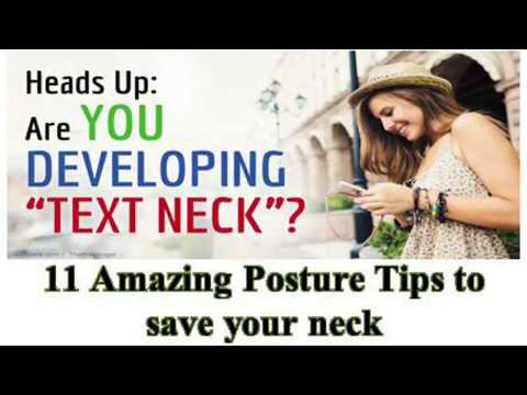 Posture Tips To Save Your Neck